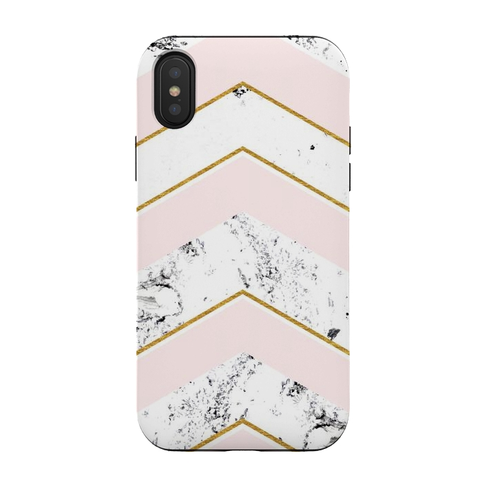Marble. Pink and gold