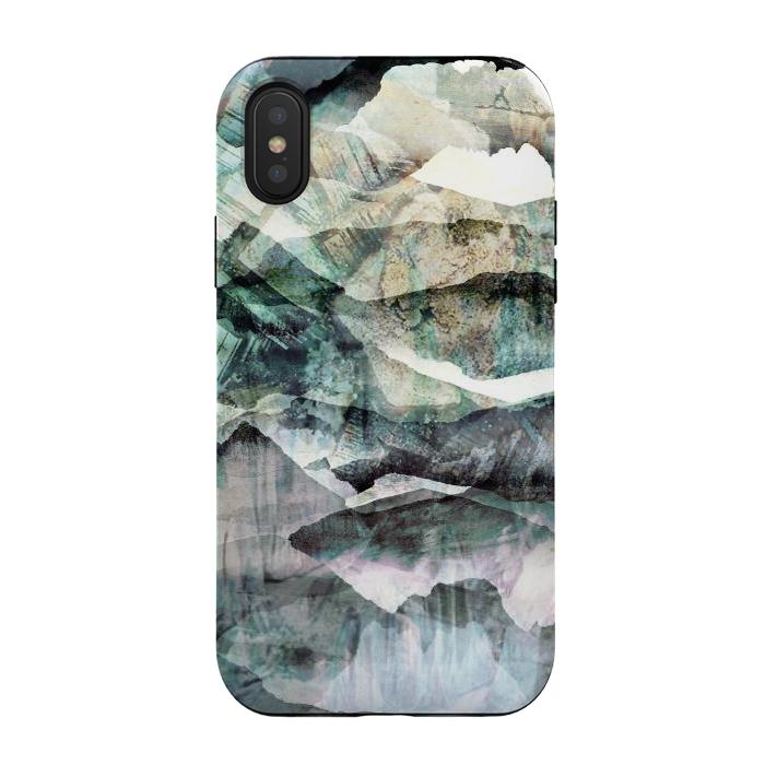 stylised mountain landscape art
