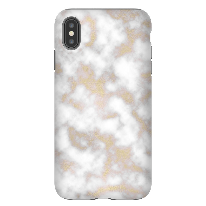 Gold and White Marble Texture
