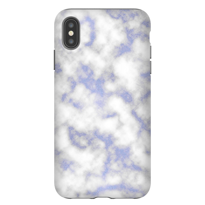 Blue and White Marble Texture