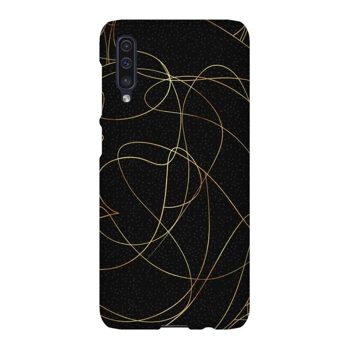 Modern Gold Line Art Gray Dots Abstract Design