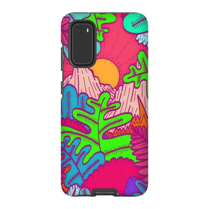 A pink tropical jungle