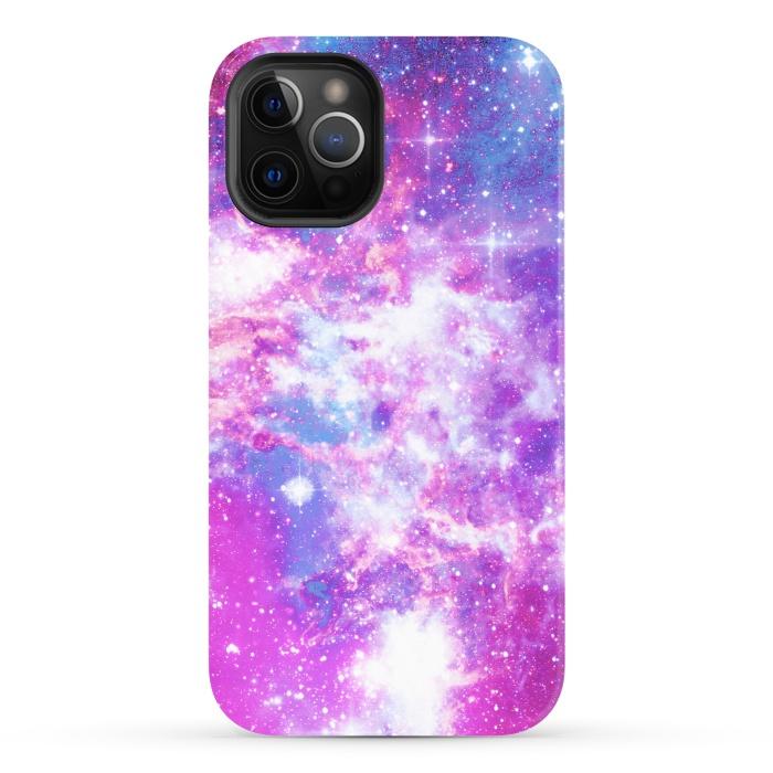 Pink blue starry galaxy