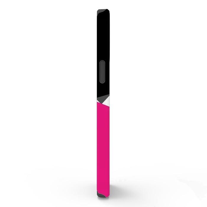 Color Blocked Chevron Black Pink