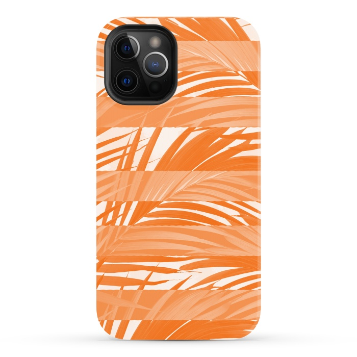 Orange Palm tree abstract design