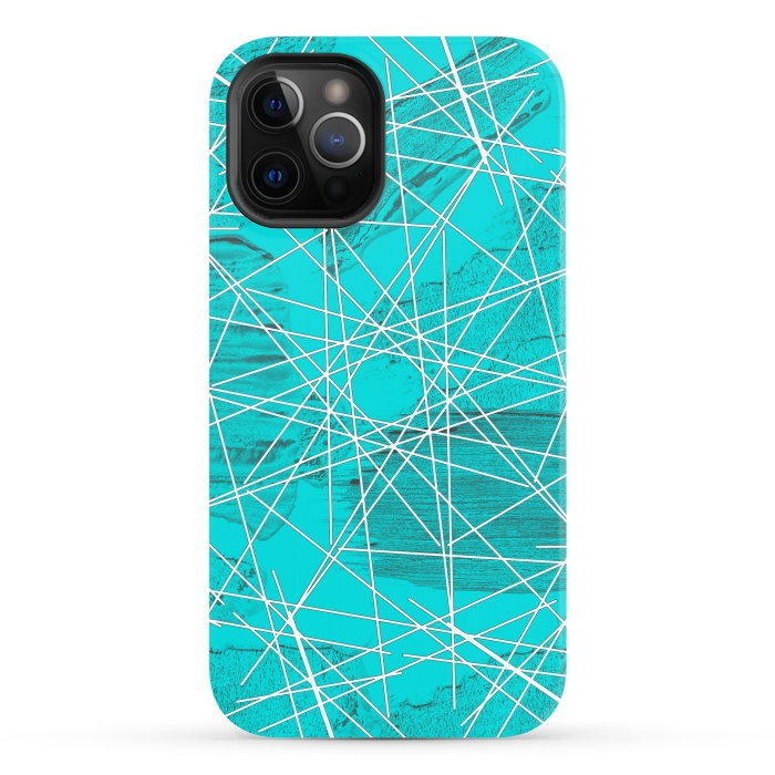 Blue geometric abstract design