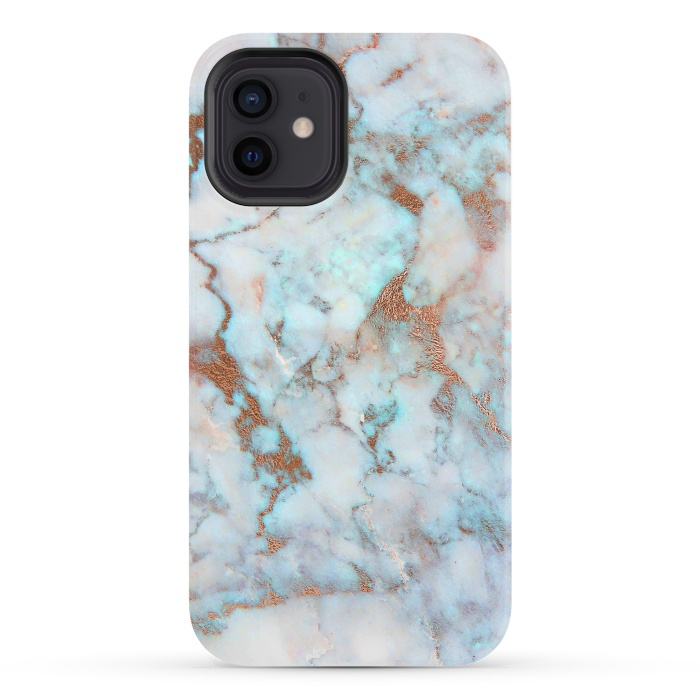 White & Gold Faux Marble
