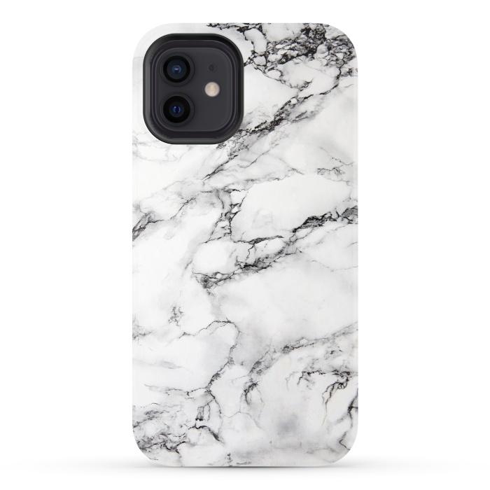 White Marble Stone Print