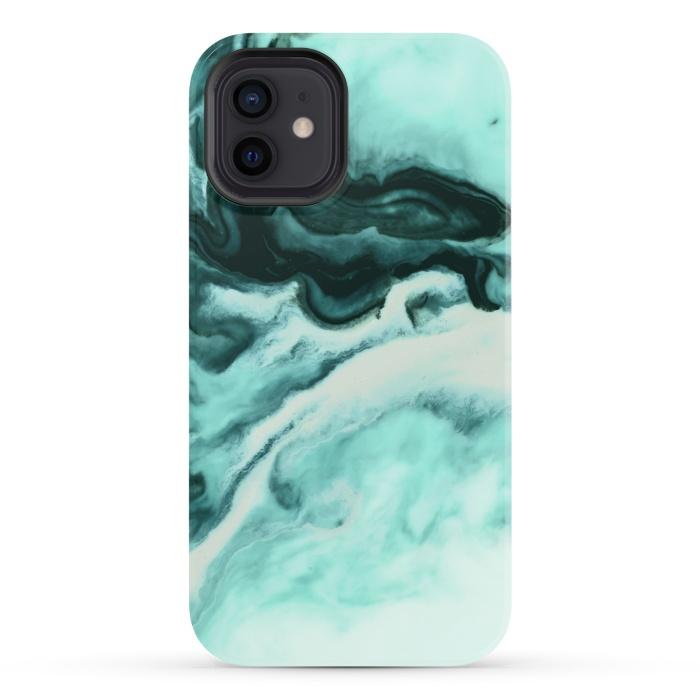 Abstract marbling mint