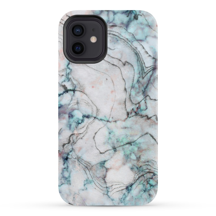 Teal and gray marble