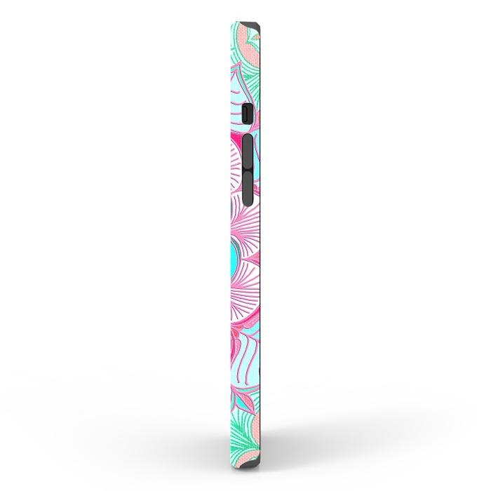 Tropical Doodle Flower in Pink & Aqua