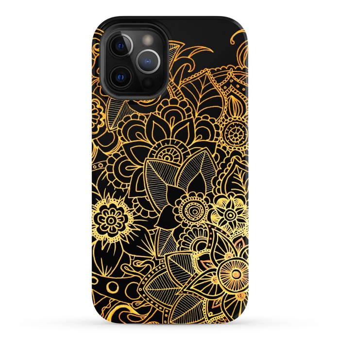 Floral Doodle Gold G523