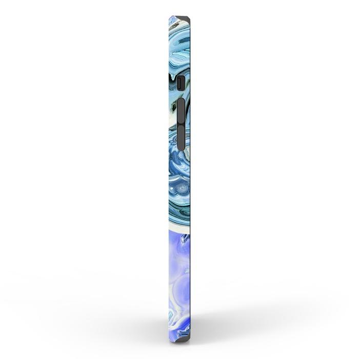 Blue purple liquid marble