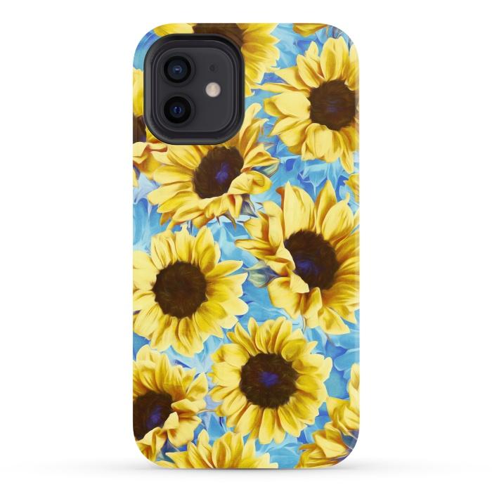 Dreamy Sunflowers on Blue