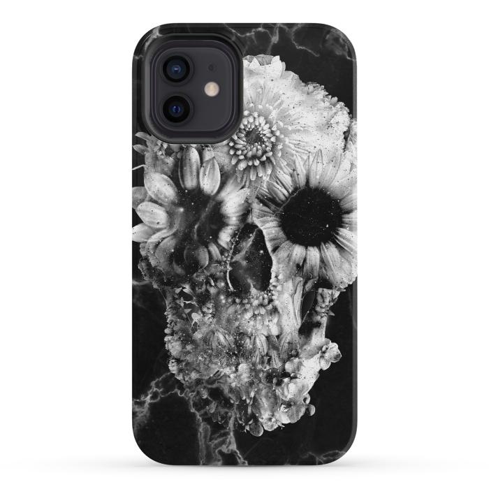 Floral Skull Marble