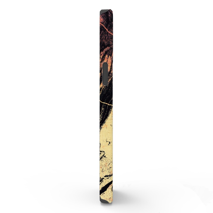 Gold marble brush strokes