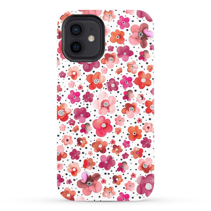 Beautiful Naive Coral Flowers Dots