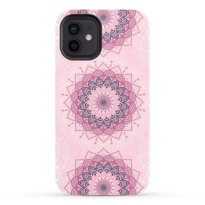 Pink white mandalas
