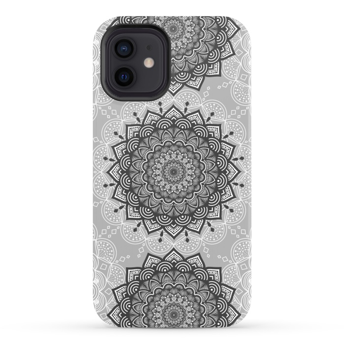 Black gray mandalas