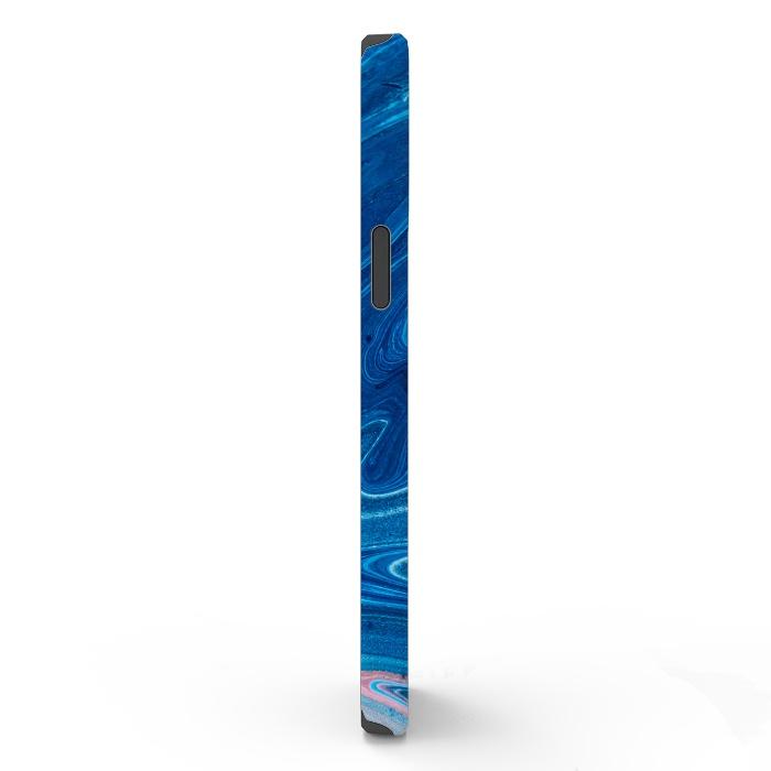 Blue Acrylic Pour Color Liquid Marble