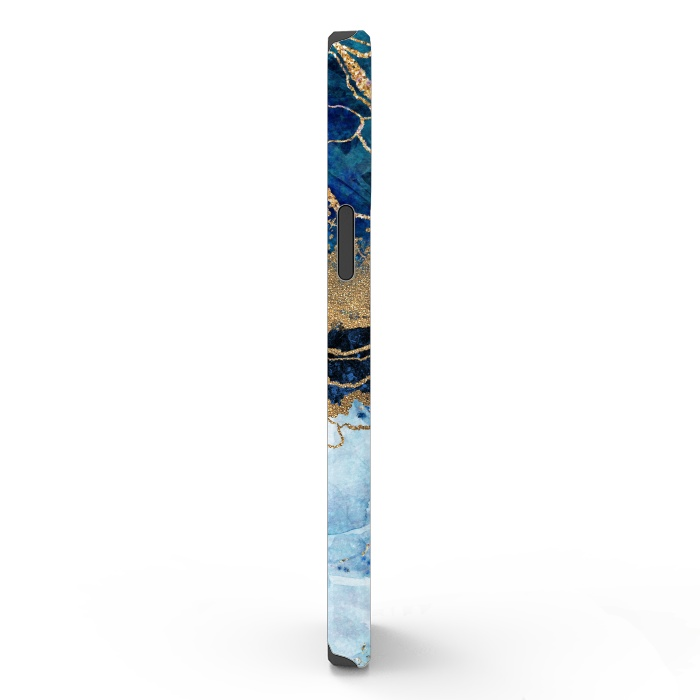 Abstract Background Blue Marble and Glossy Decoration