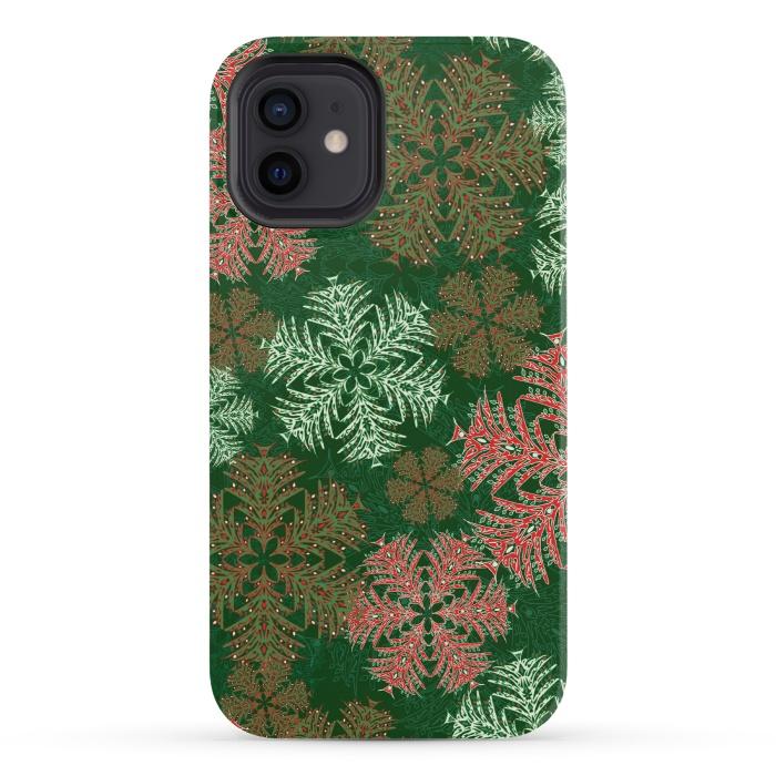 Xmas Snowflakes Red & Green