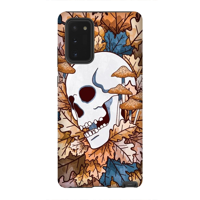The autumnal skull and mushrooms