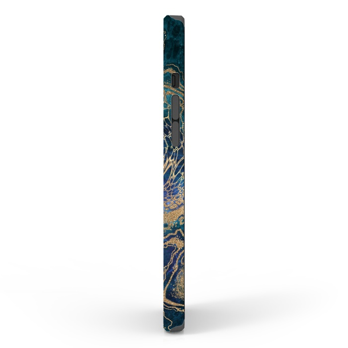 Abstract Background Blue Gold Marble
