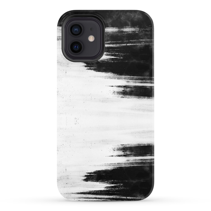 Black and white brushed marble