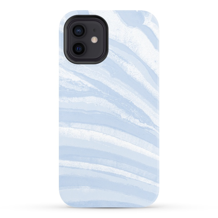 Baby blue pastel marble stripes