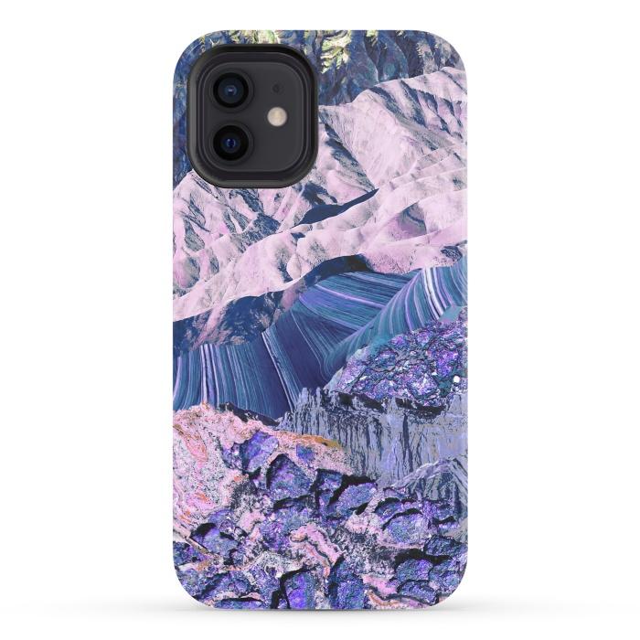 Blue Violet Geode mountain landscape