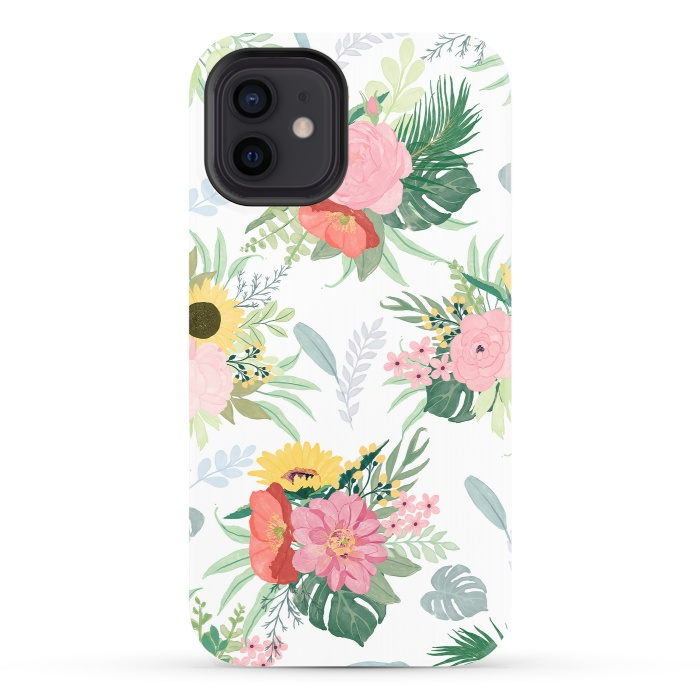 Girly Watercolor Poppy & Sunflowers Floral Design