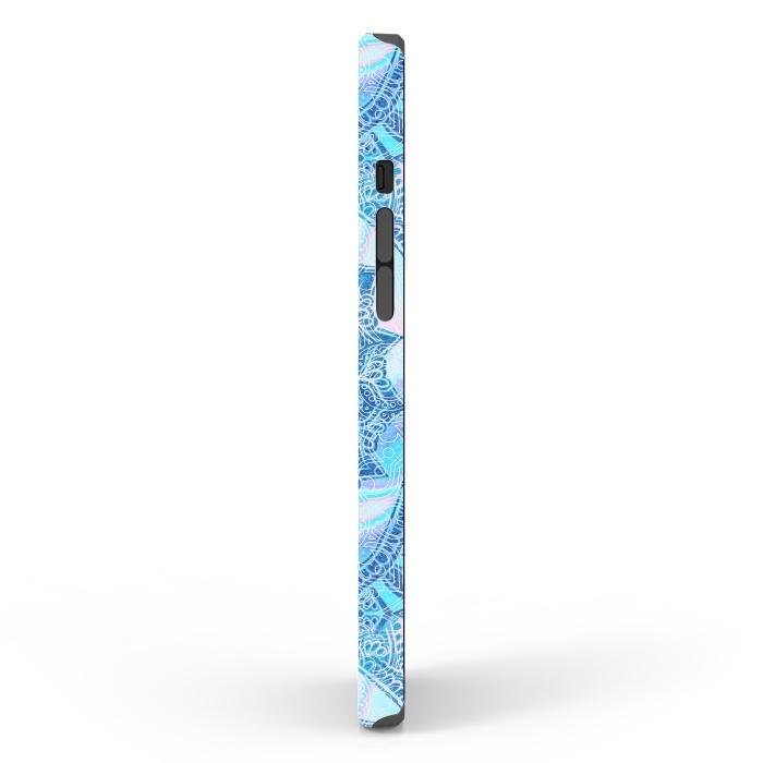 Blue tie-dye mandala
