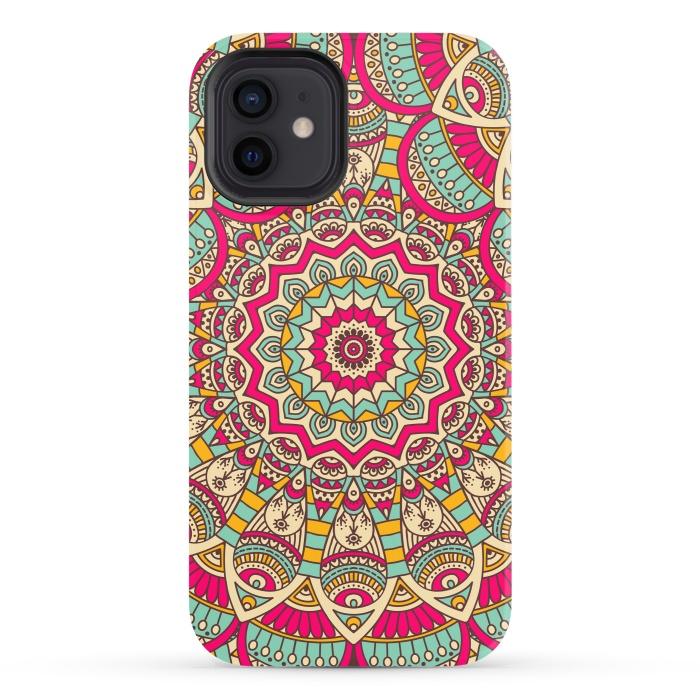 Ethnic floral seamless and Madala pattern