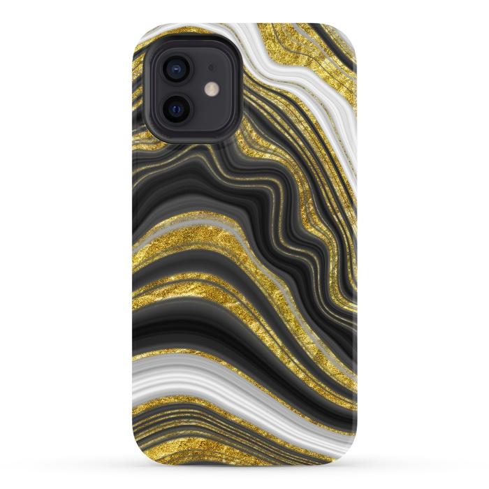 elegant marble golden waves