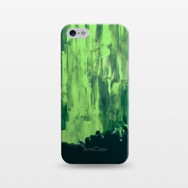 iPhone 5/5E/5s  Lime Green Northern Lights by ANoelleJay ()