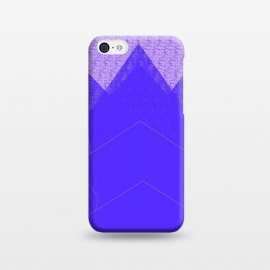 iPhone 5C  Sunset Mountain Blue by ANoelleJay