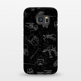 Galaxy S7  Star Doodles by Julien Missaire