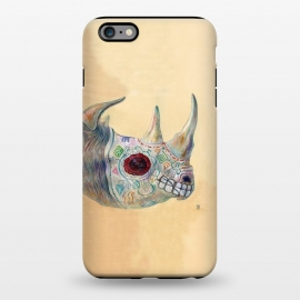 iPhone 6/6s plus  Day of the Dead Rhino by Brandon Keehner