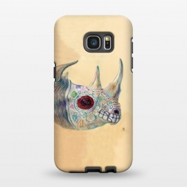 Galaxy S7 EDGE  Day of the Dead Rhino by Brandon Keehner