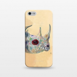 iPhone 5/5E/5s  Day of the Dead Rhino by Brandon Keehner ()