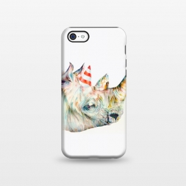 iPhone 5C StrongFit Rhino's Birthday by Brandon Keehner ()