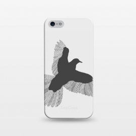 iPhone 5/5E/5s  Bird Grey Poster Grey by Florent Bodart ()