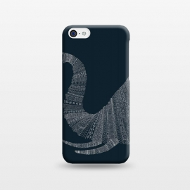 iPhone 5C  Elephant Blue Poster blue by Florent Bodart ()
