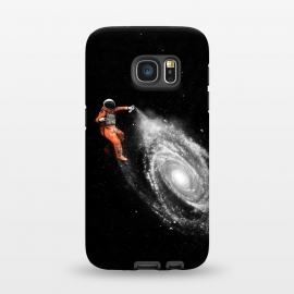 Galaxy S7  Space Art by Florent Bodart