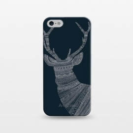 iPhone 5/5E/5s  Stag Blue Poster blue by Florent Bodart ()