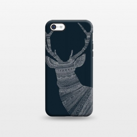 iPhone 5C  Stag Blue Poster blue by Florent Bodart