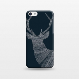 iPhone 5C  Stag Blue Poster blue by Florent Bodart ()