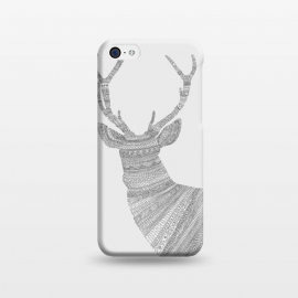 iPhone 5C  Stag Grey Poster grey by Florent Bodart