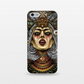 iPhone 5/5E/5s  Winya 2 by Winya (women,eyes,queen,vampire,blood,poison,snake,bad ass,evil,halloween,cruel,beautiful,horn,amulet,jewel,chicano,neo traditional,tattoo style,tattoo,surreal,witch,magic,occult,culture,art line,baroque,victorian,gothic,pop culture,dark,reaper,sacred geometry,fantasy,mystical,creepy,fairy,angel,myth,vinta)